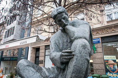 Statue spotted in the city of Zagreb, Croatia