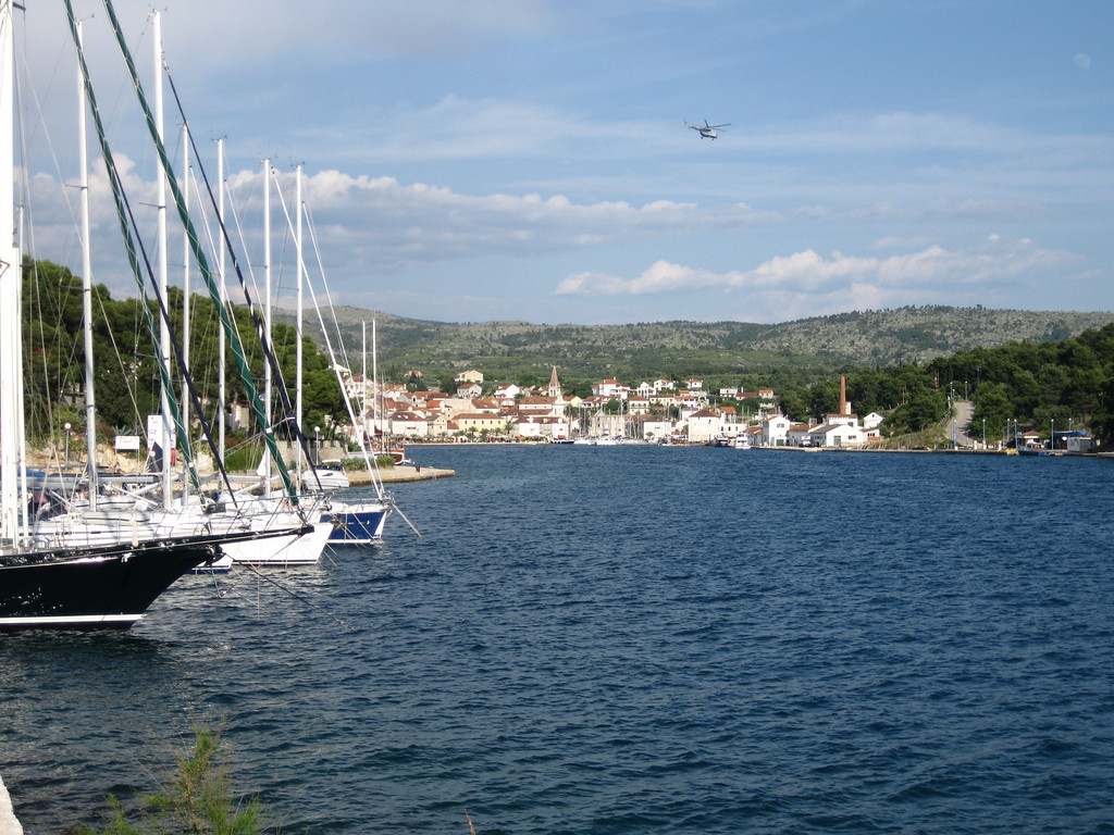 boats in milna habor croatia