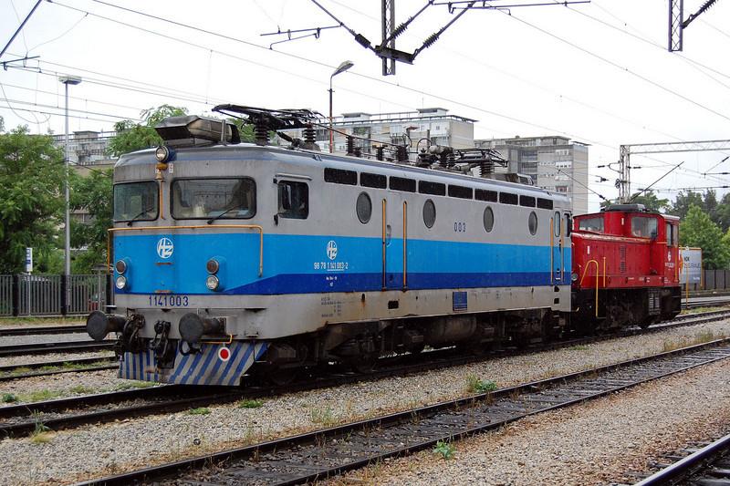 1141 003 at Zagreb Glavin Kolodvor on the 21st June 2010.