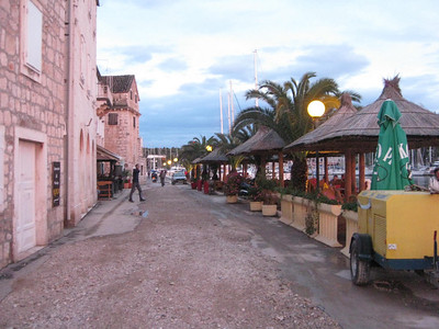 Milna's one main street