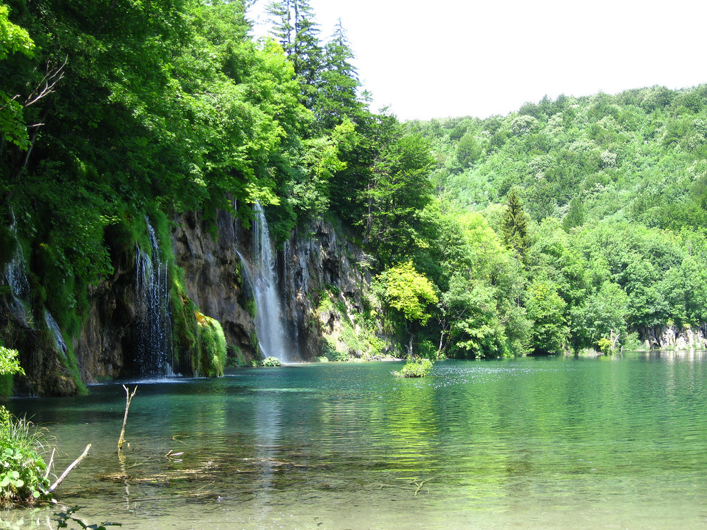 Croatia waterfalls at Plitvice Lakes National Park