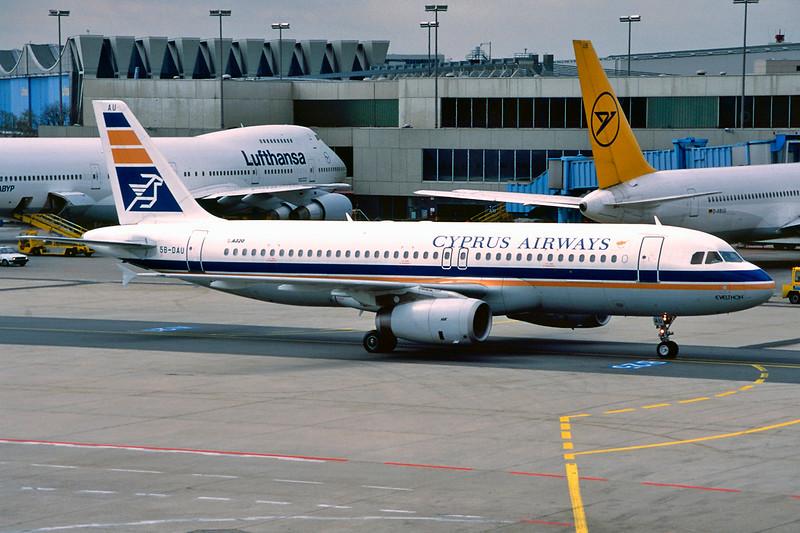 "5B-DAU Airbus A320-231 ""Cyprus Airways"" c/n 0035 Frankfurt/EDDF/FRA 09-04-95 (35mm slide)"