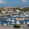 So many colorful boats in Pafos Harbor
