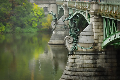 Detail on the Cech Bridge, Prague