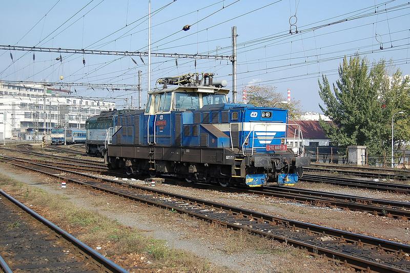 A Czech class 111 at Brno.