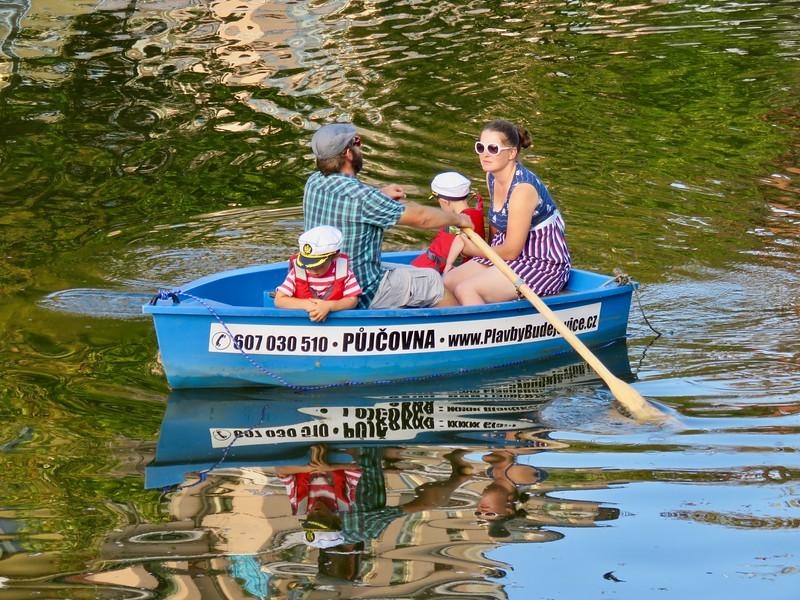 rented rowboat České Budějovice