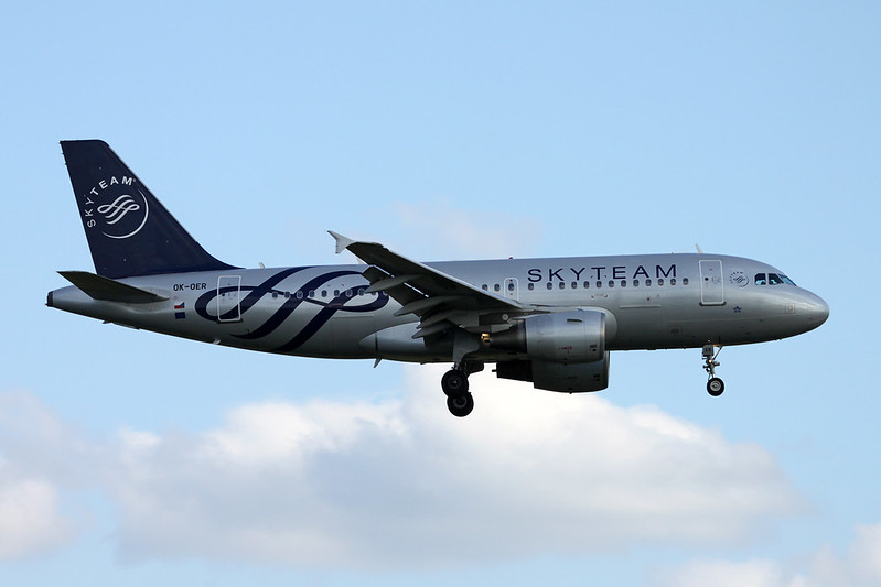 "OK-OER Airbus A319-112 c/n 3892 Brussels/EBBR/BRU 08-06-17 ""Skyteam"""