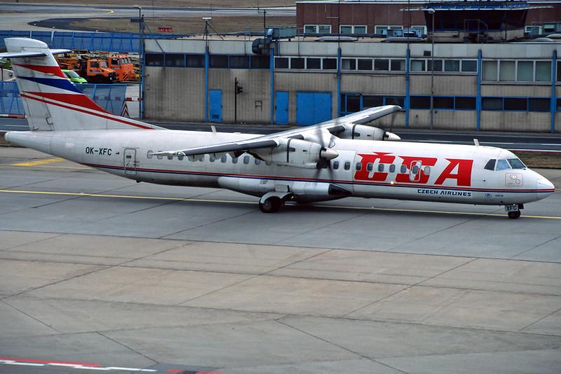 OK-XFC Aerospatiale ATR-72-201 c/n 299 Frankfurt/EDDF/FRA 01-02-97 (35mm slide)