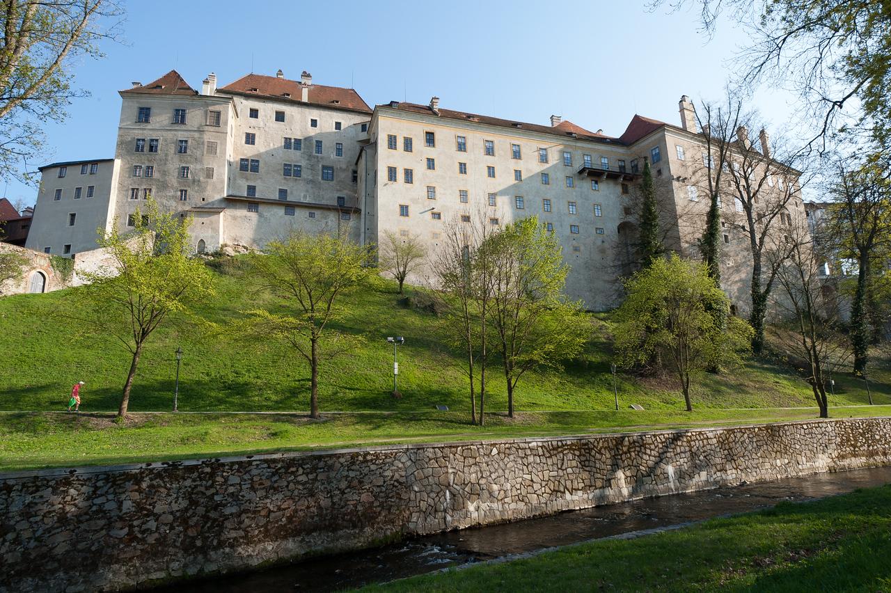 Row of buildings in Cesky Krumlov - Czech Republic