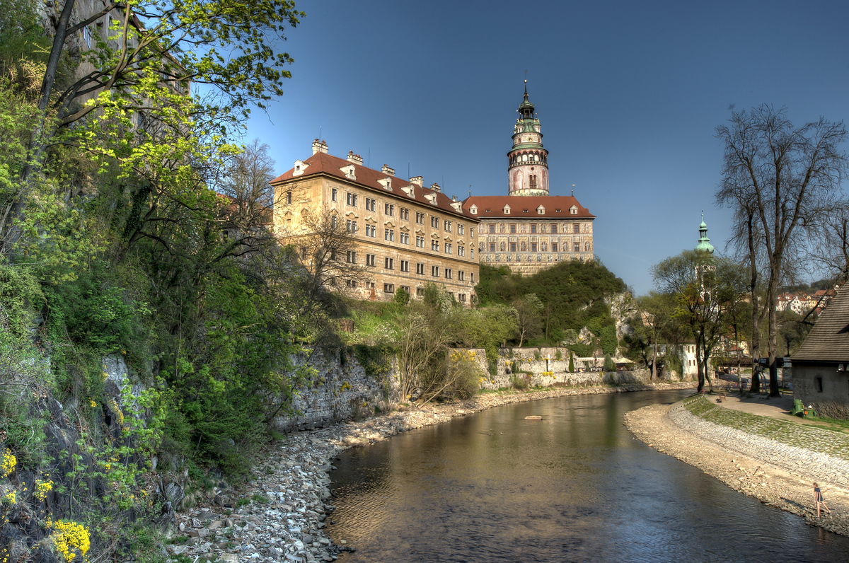 The town of Cesky Krumlov in the Czech Republic