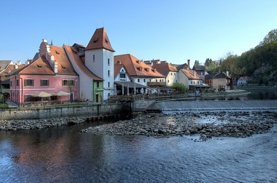 More houses near the Vltava River - Cesky Krumlov, Czech Republic