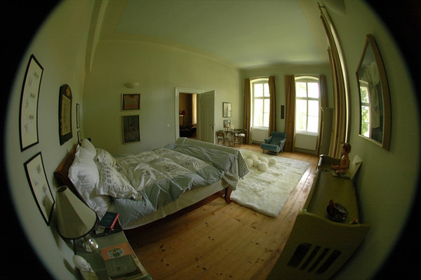 Master Bedroom in Fisheye - Bohemia, Czech Republic