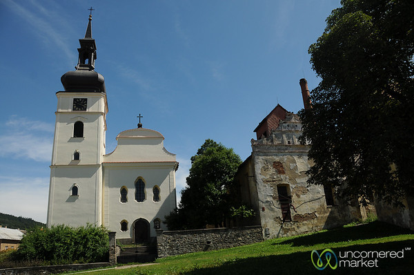 Traditional Czech Church in Bohemia