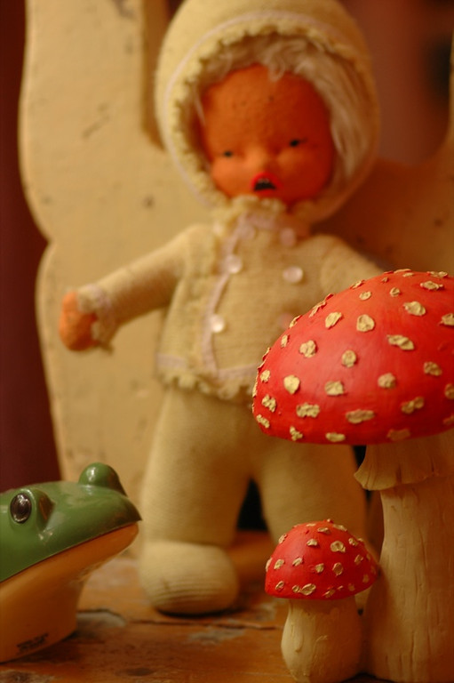 Doll, Frog and Mushroom - Bohemia, Czech Republic