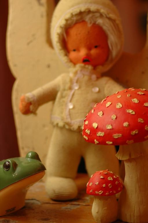 Doll, Frog and Mushroom - Bohemia, Czech Republic