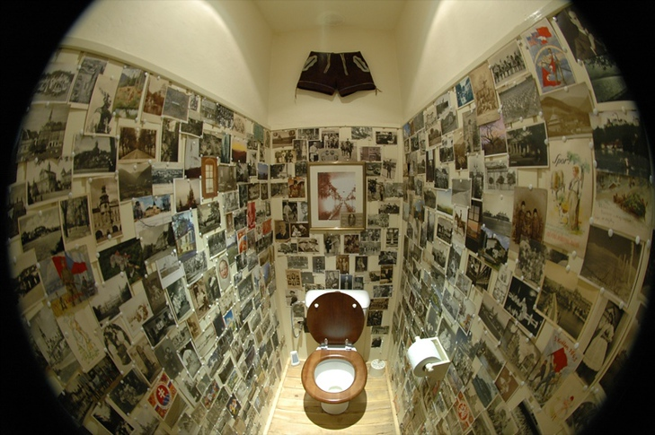 Unique Toilet in Fisheye - Bohemia, Czech Republic