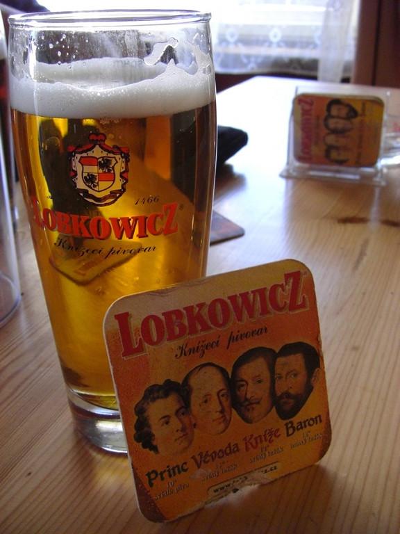 Local Brew, Lobkowicz Beer - Bohemia, Czech Republic