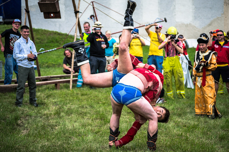 Traditional Mongol Rally Wrestling at Festival of Slow