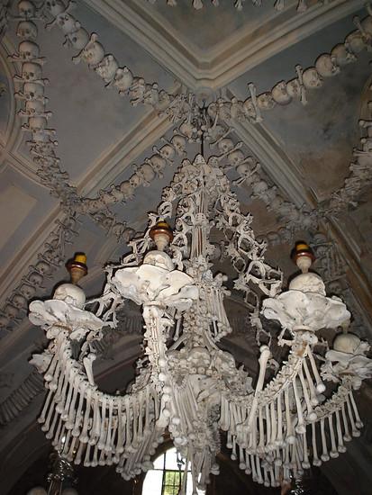 Bone Chandelier at Sedlec Ossuary