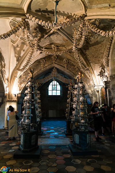 towers of skulls and bone garlands