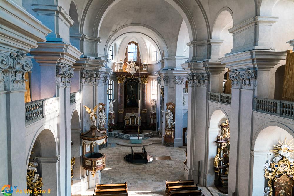 Beautiful inside of Piarist Church