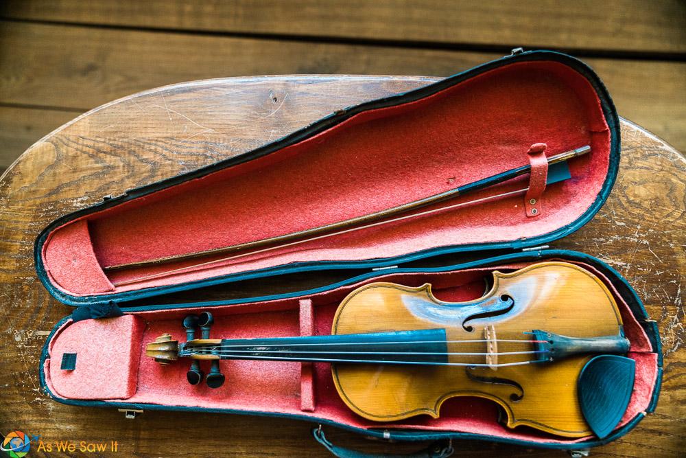 Violin displayed at the Smetana birth home