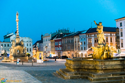 Lower Square at Twilight, Olomouc