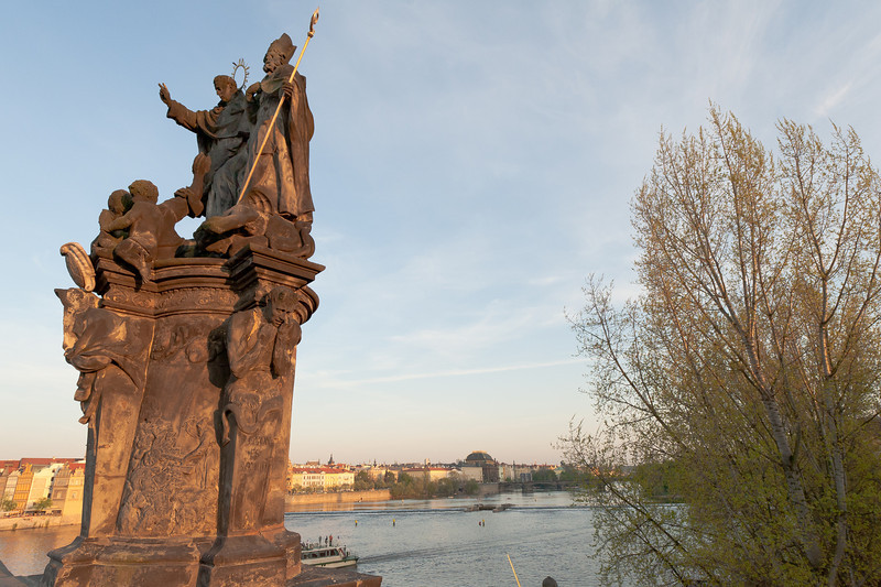 Statue near Vysehrad in Prague, Czech Republic