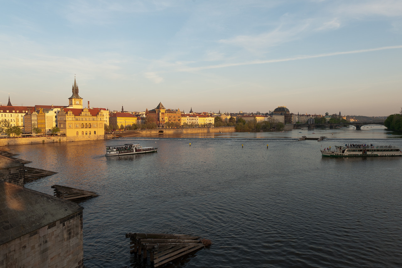 Wide shot of Vysehrad in Prague, Czech Republic