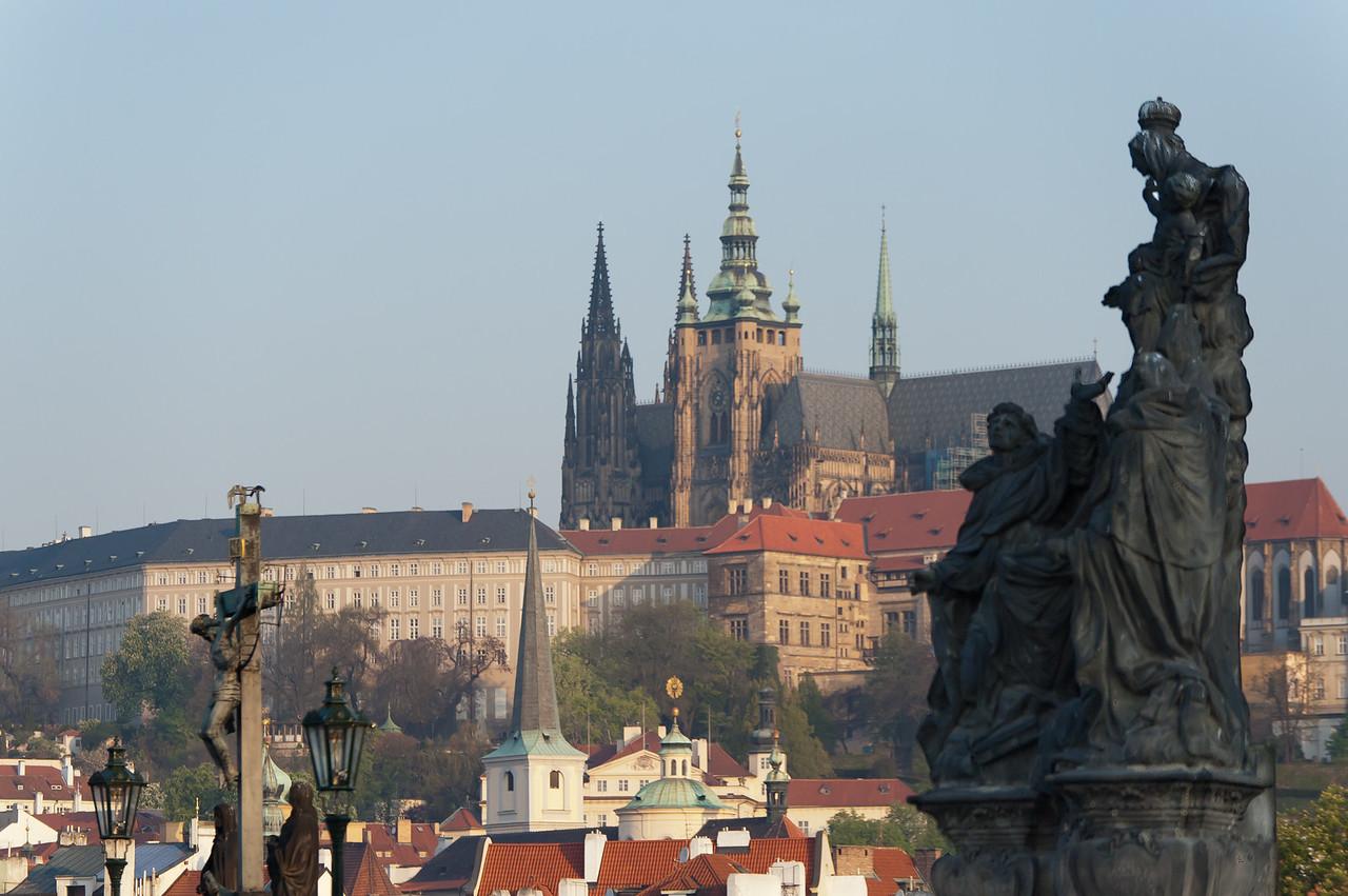The Prague Castle towering above the city - Prague, Czech Republic