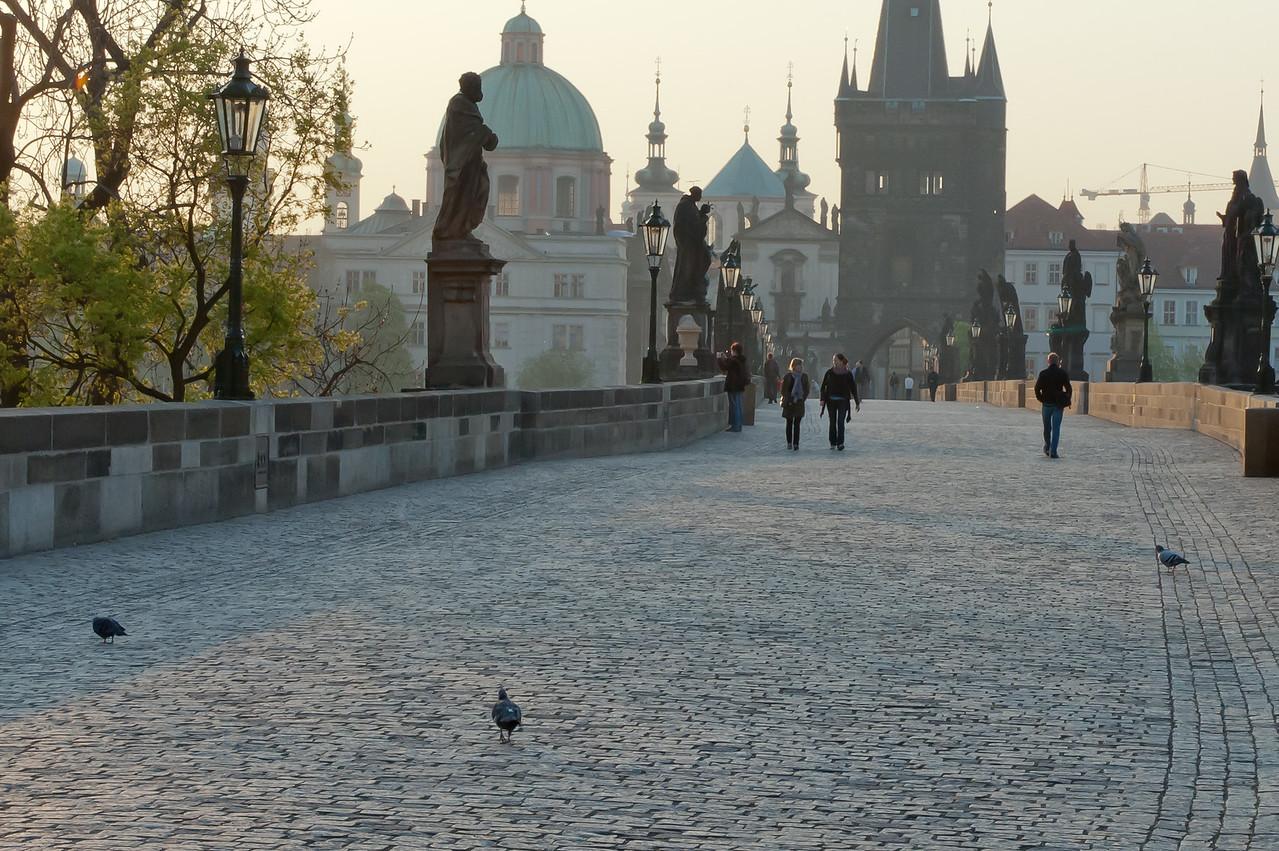 Beautiful view at Charles Bridge during day - Prague, Czech Republic