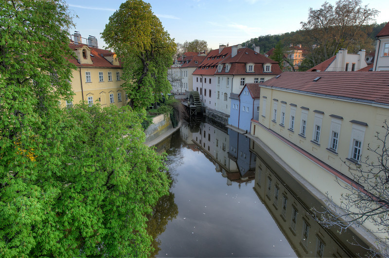 River bank in Prague, Czech Republic