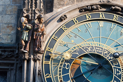 Miniature statues next to the Astronomical Clock - Prague, Czech Republic