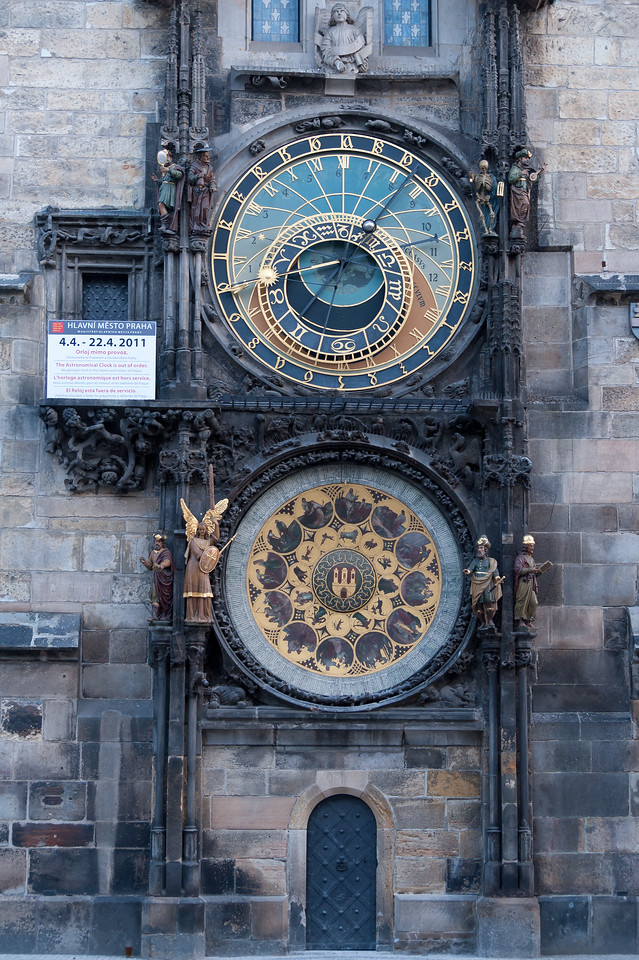 View of the Astronomical Clock in Prague, Czech Republic