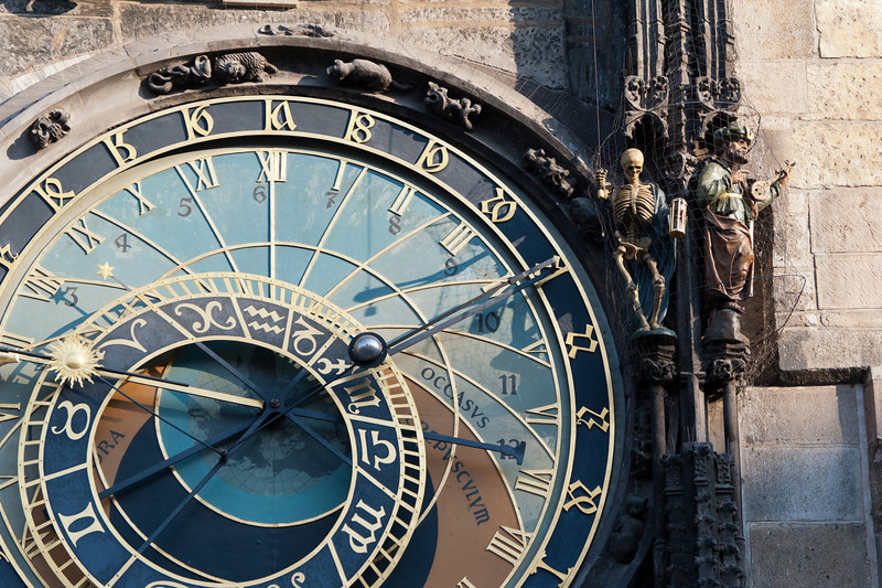 The Astronomical Clock in Prague from a different angle - Czech Republic