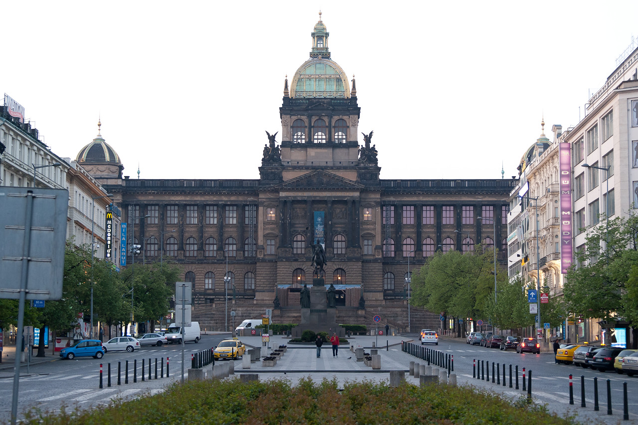 Wenceslas Square in Prague, Czech Republic