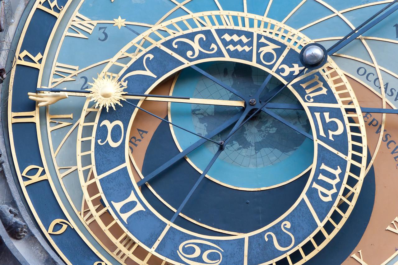 Details of the hands of Prague Astronomical Clock - Czech Republic