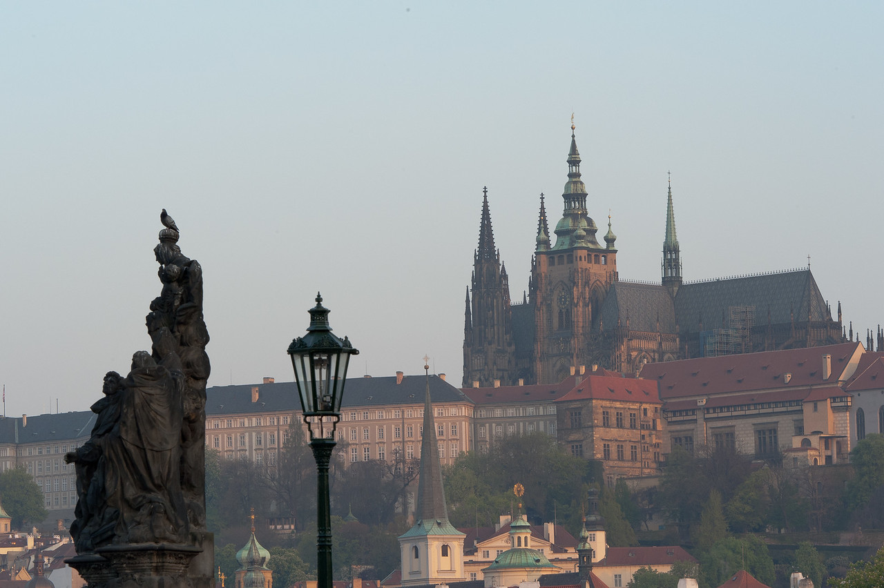 View of the Prague Castle from the Charles Bridge - Prague, Czech Republic