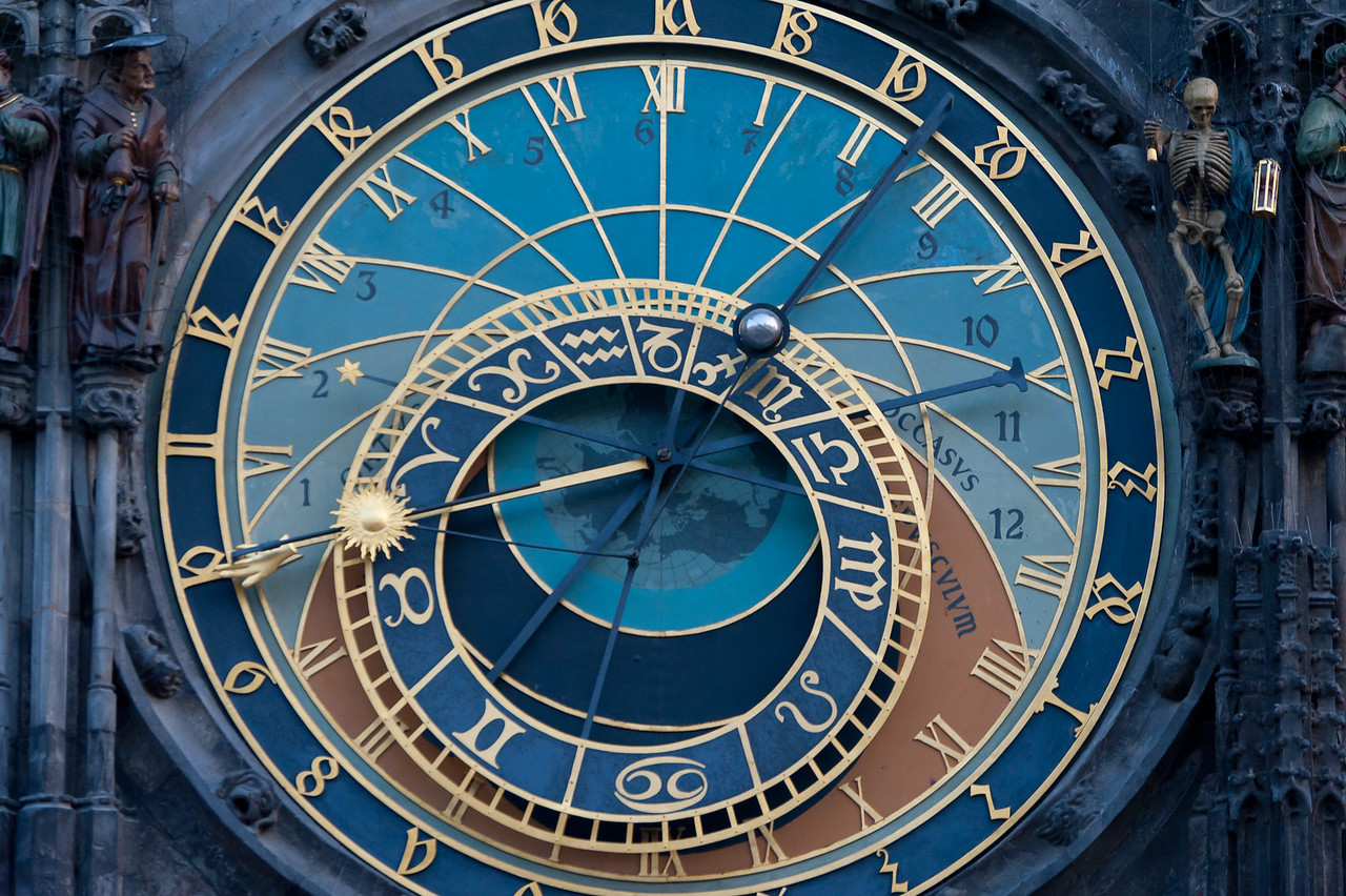Details of the Astronomical Clock in Prague, Czech Republic