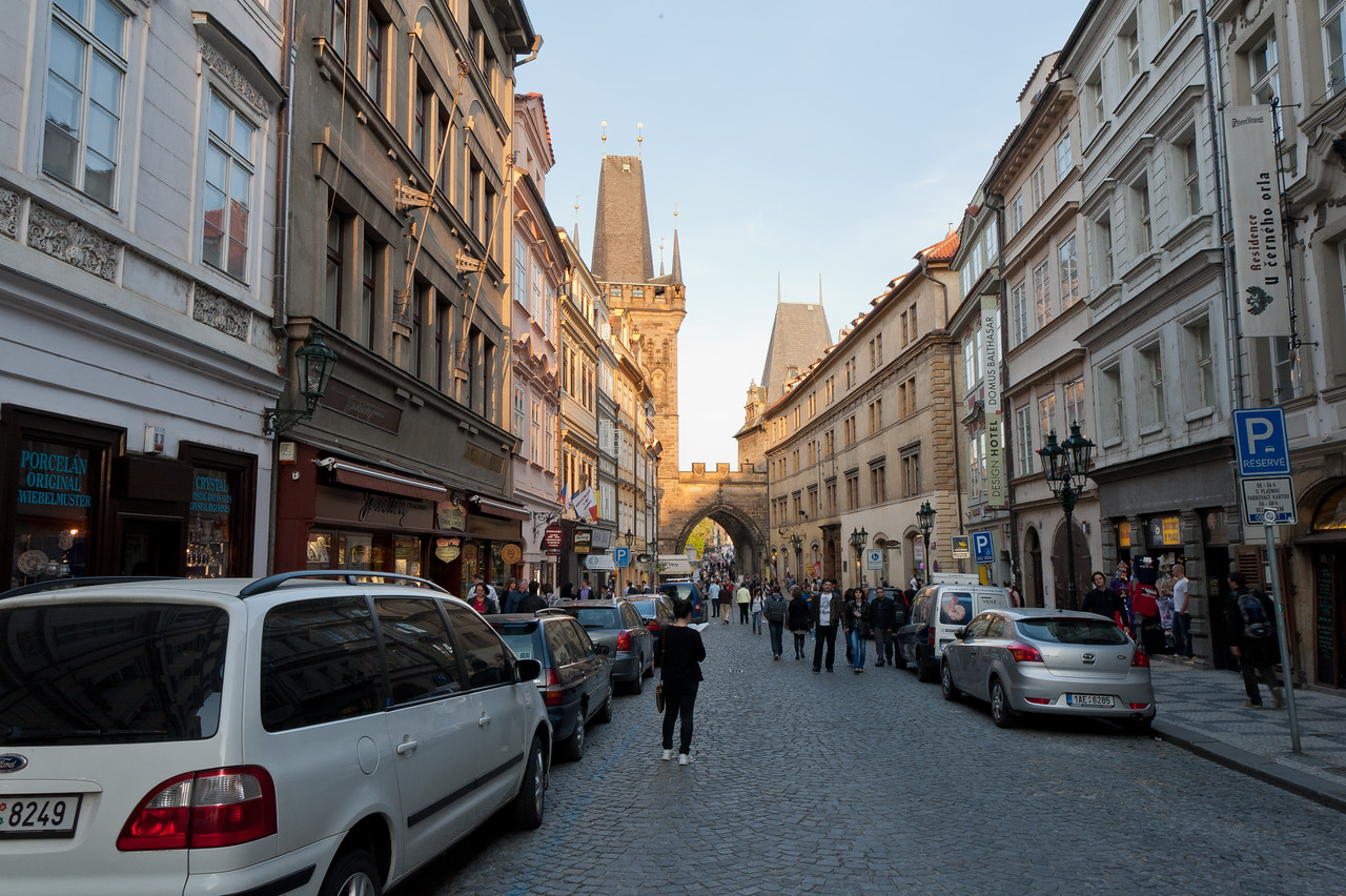 Street scene in Prague, Czech Republic
