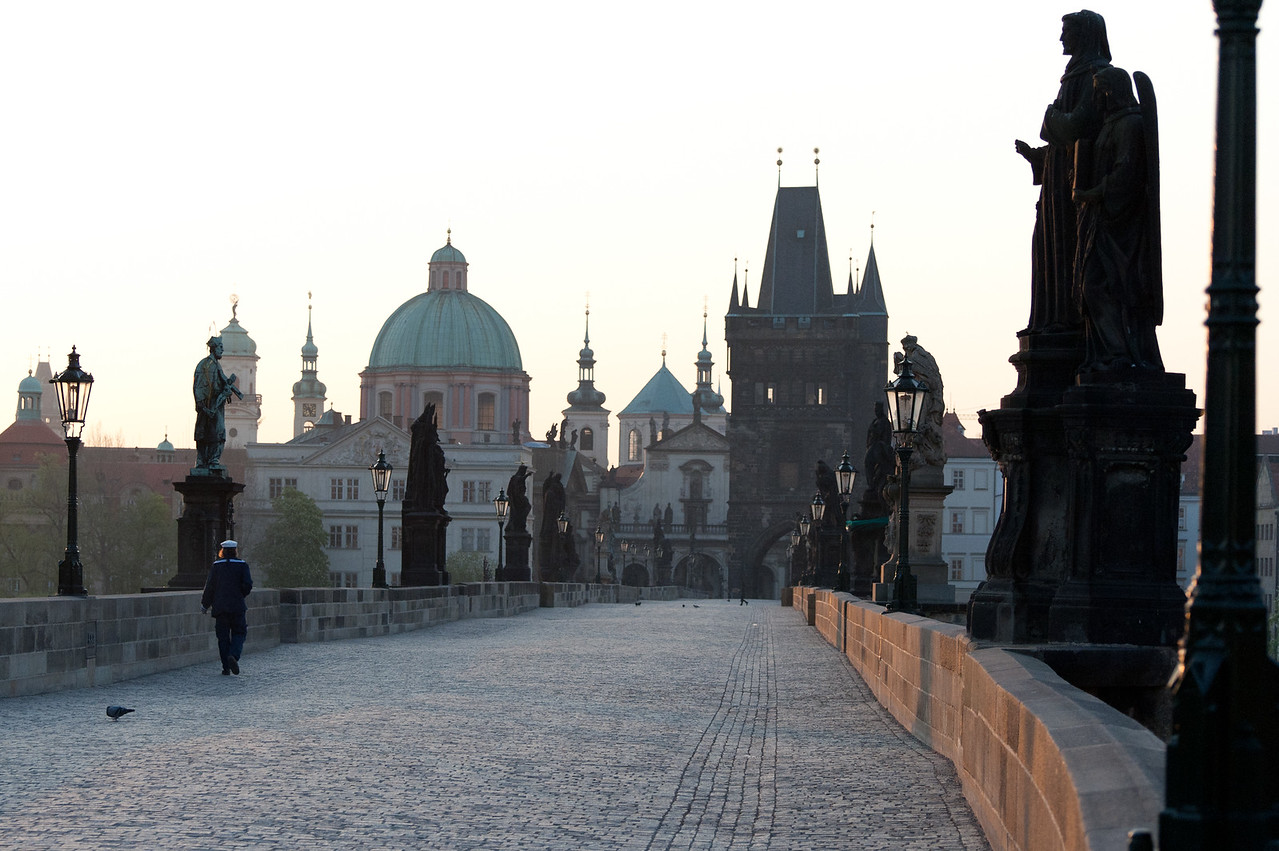 Charles Bridge at dusk - Prague, Czech Republic