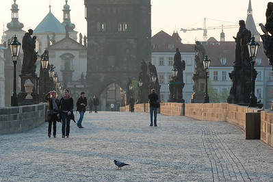 View at the Charles Bridge by day - Prague, Czech Republic