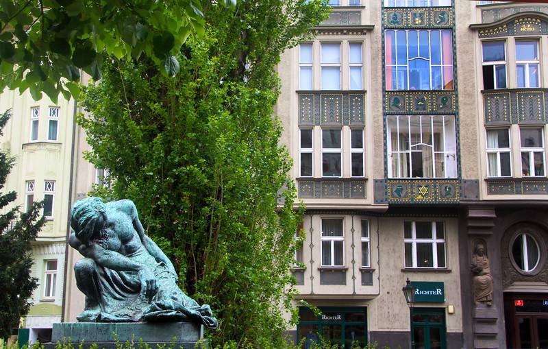 Prague, Czech Republic, Moses Statue, Prague Jewish Quarter