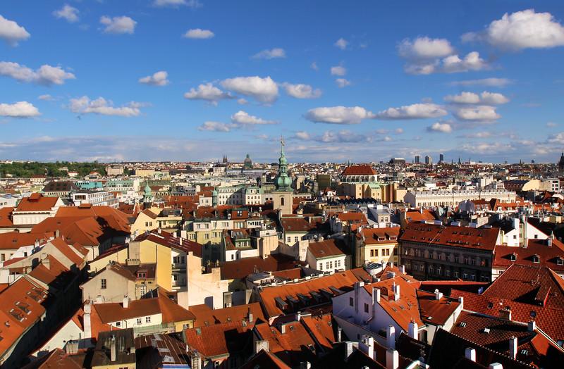 Prague, Czech Republic,, View over Rooftops from Tower