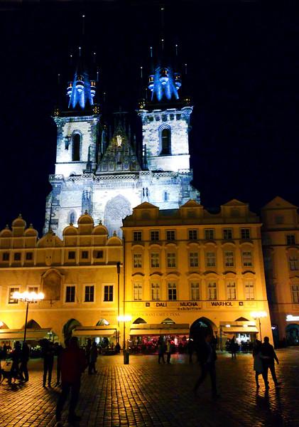 Prague, Czech Republic, Evening View, Old Town Square