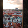 Prague, Czech Republic, Prague Cathedral from Old Town Hall Tower