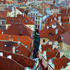 Prague, Czech Republic, View on Red Roofs