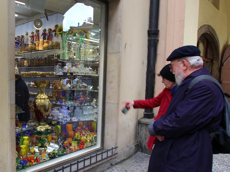 Prague, Czech Republic, Shopping for Bohemian Glass