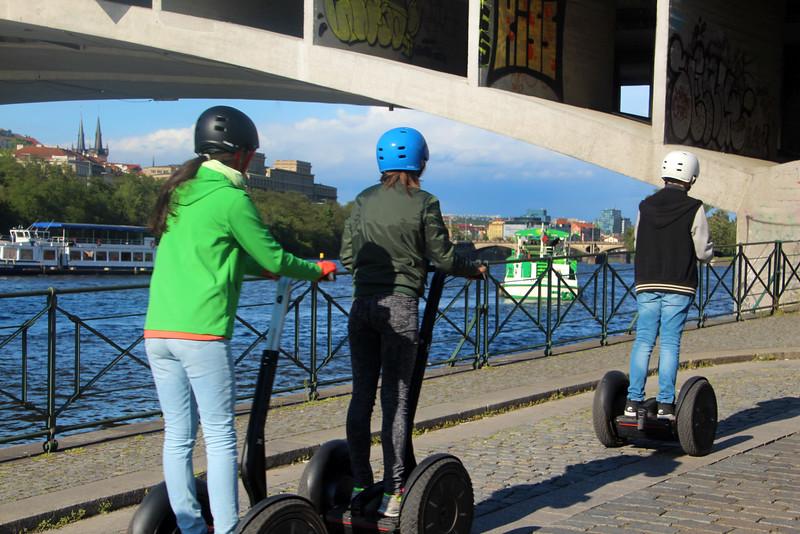 Prague, Czech Republic, Kids on Segway