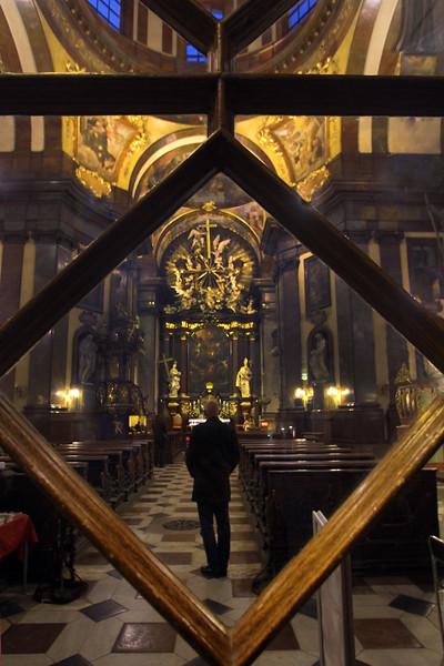 Prague, Czech Republic, Interior of St. Salvator Church Charles Bridge